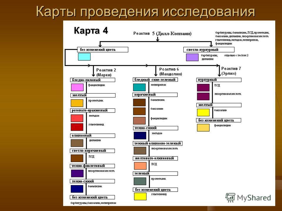 Карты проведения исследования Карта 4