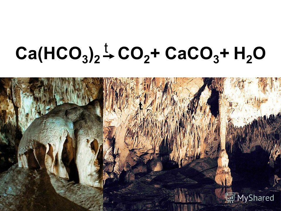 Ca(HCO 3 ) 2 t CO 2 + CaCO 3 + H 2 O t