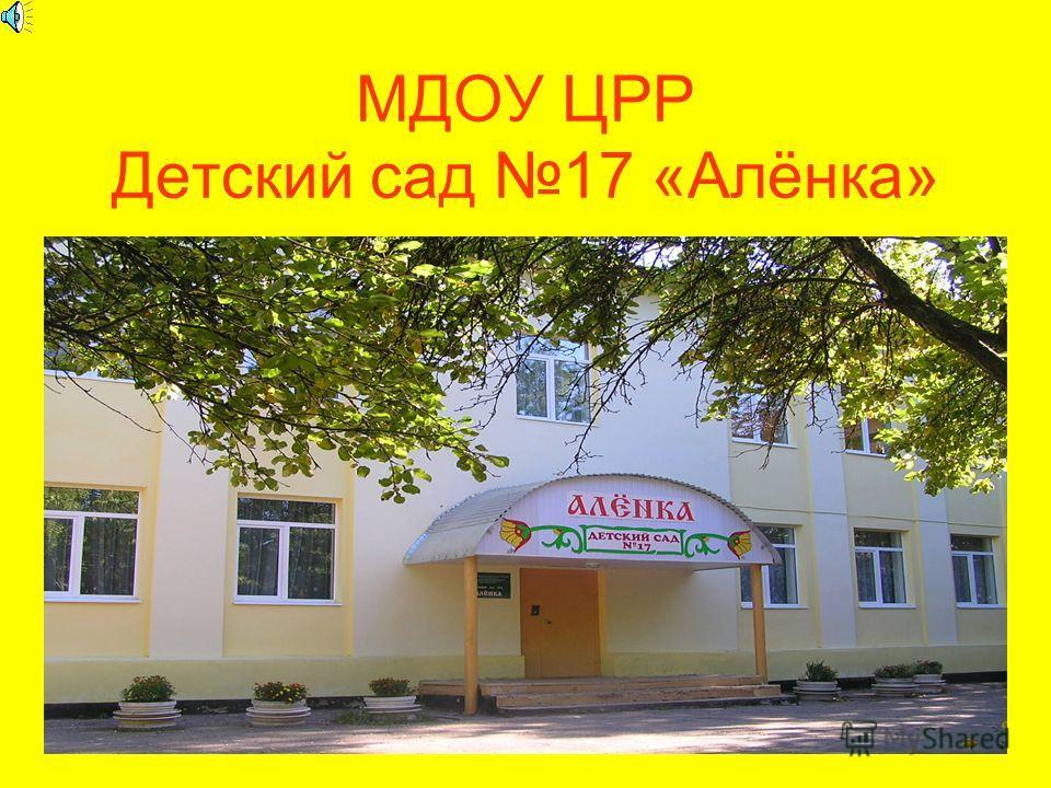 МДОУ ЦРР Детский сад 17 «Алёнка»