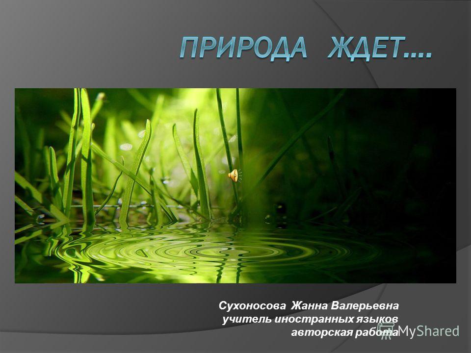 Сухоносова Жанна Валерьевна учитель иностранных языков авторская работа