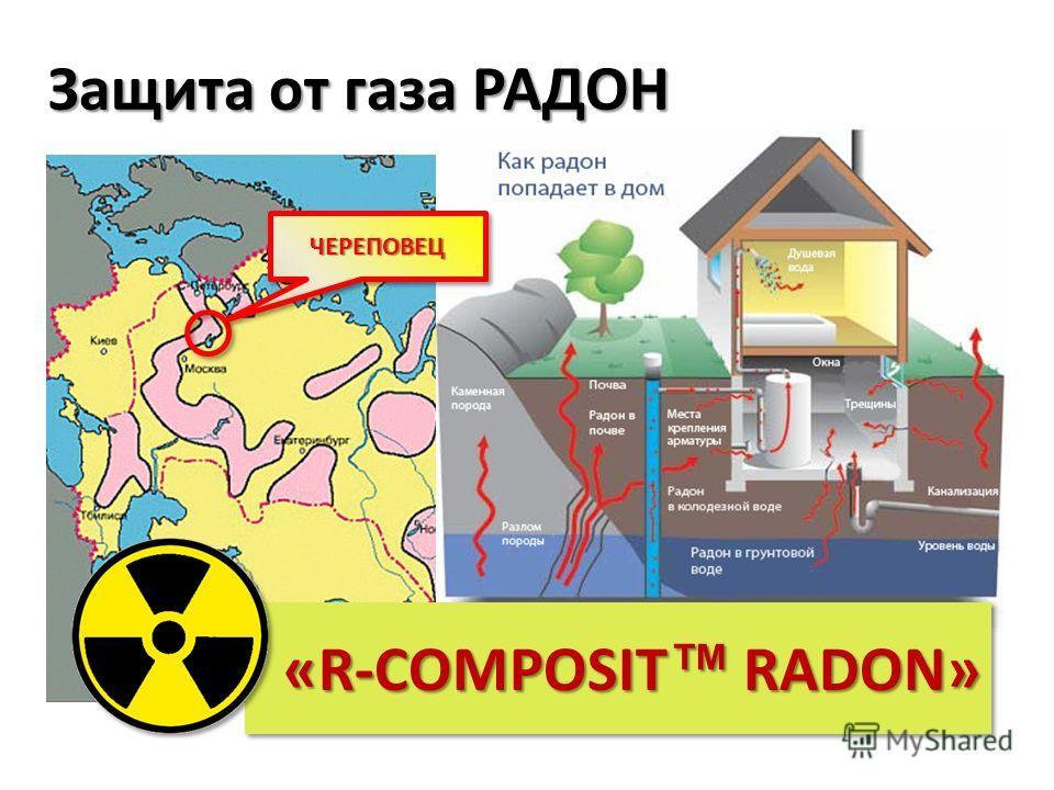 Защита от газа РАДОН «R-COMPOSIT RADON» ЧЕРЕПОВЕЦЧЕРЕПОВЕЦ