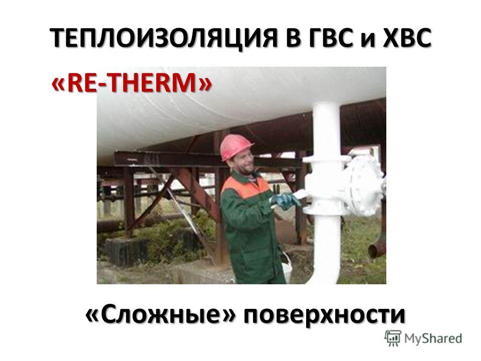 ТЕПЛОИЗОЛЯЦИЯ В ГВС и ХВС «Сложные» поверхности «RE-THERM»