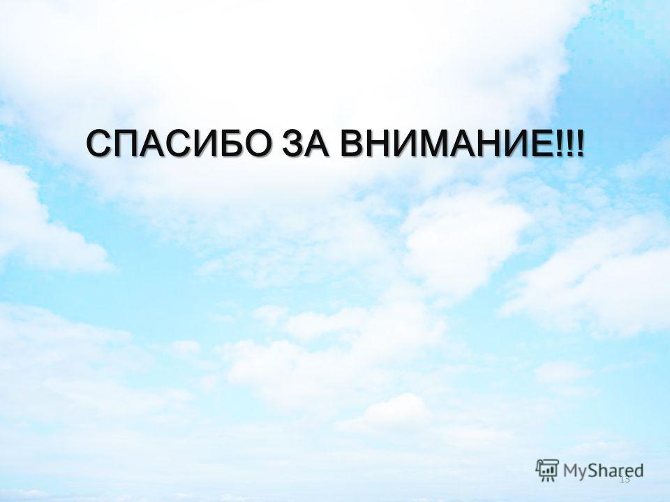 СПАСИБО ЗА ВНИМАНИЕ!!! 13