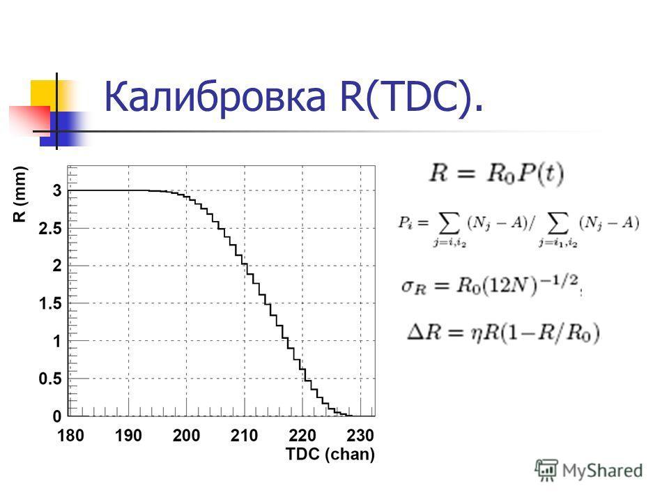 Калибровка R(TDC).