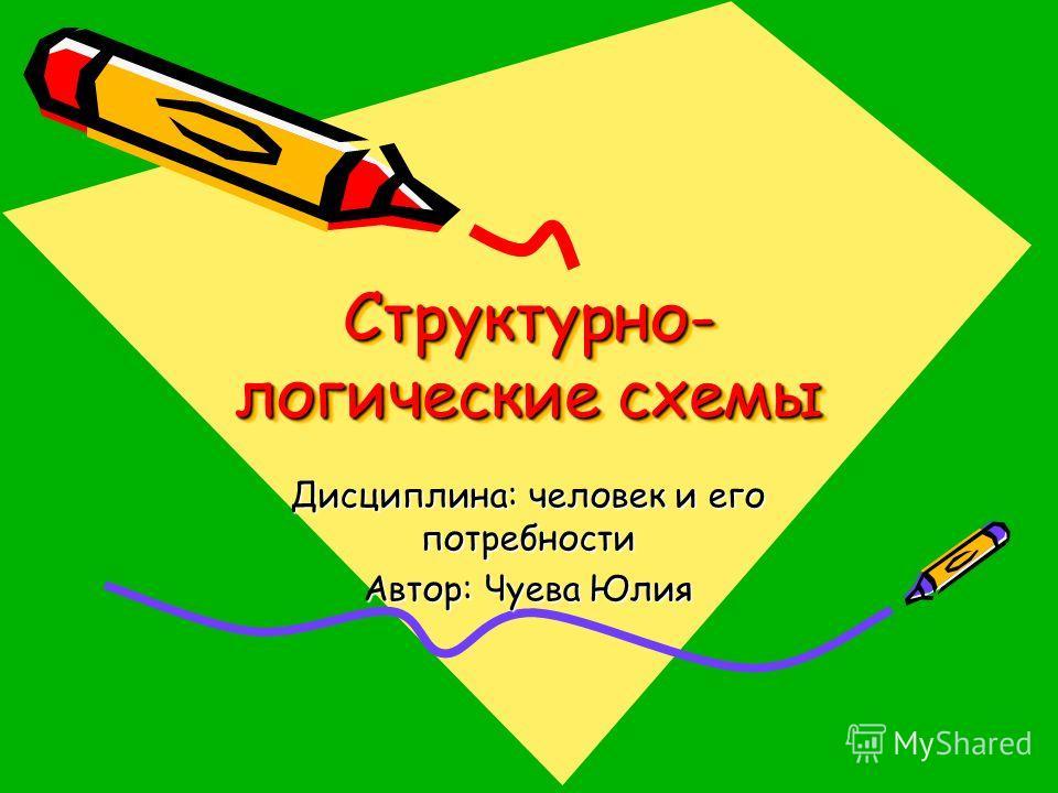 Структурно- логические схемы Дисциплина: человек и его потребности Автор: Чуева Юлия