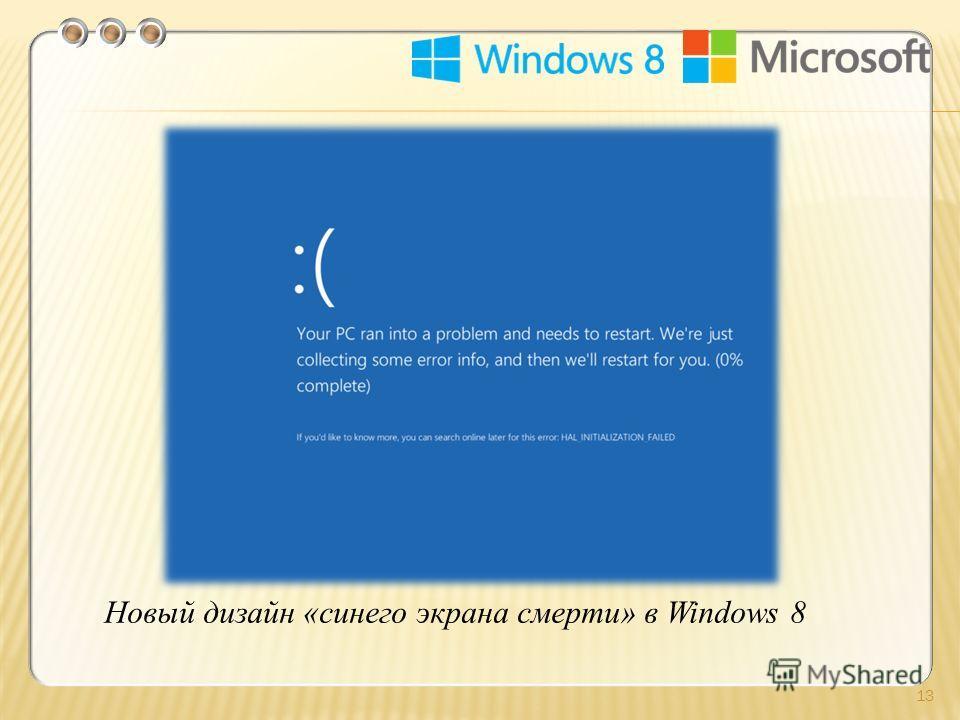 13 Новый дизайн «синего экрана смерти» в Windows 8