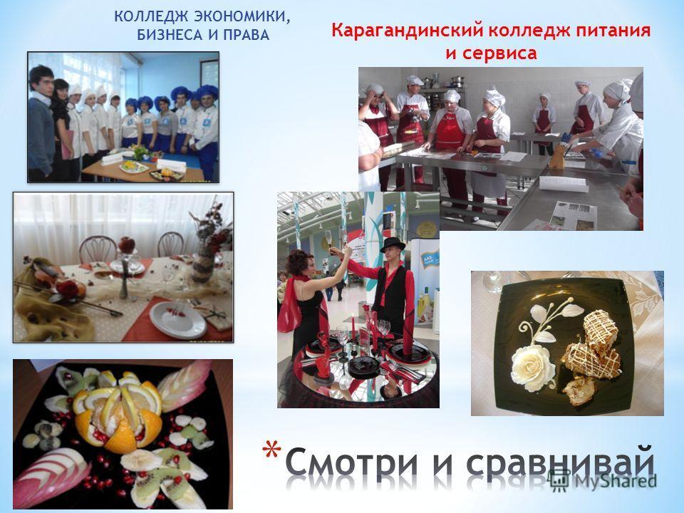 КОЛЛЕДЖ ЭКОНОМИКИ, БИЗНЕСА И ПРАВА Карагандинский колледж питания и сервиса