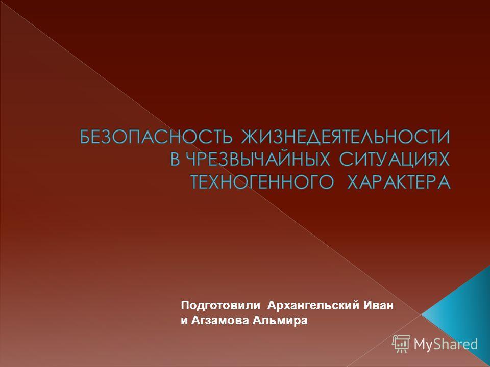 Подготовили Архангельский Иван и Агзамова Альмира