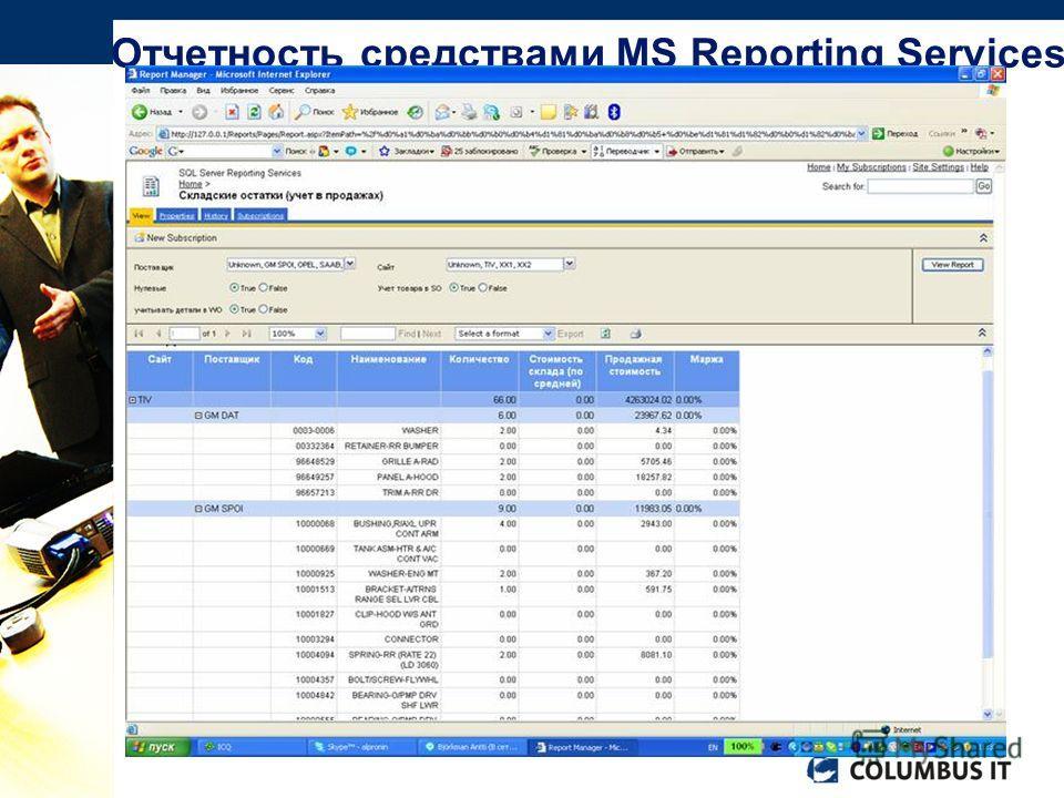 Возможность использования различных источников данных (можно аккумулировать информацию из различных систем) Формирование различных представлений отчетности: Табличное Матричное Графическое Вэб-интерфейс, обеспечивающий возможность размещения отчетнос