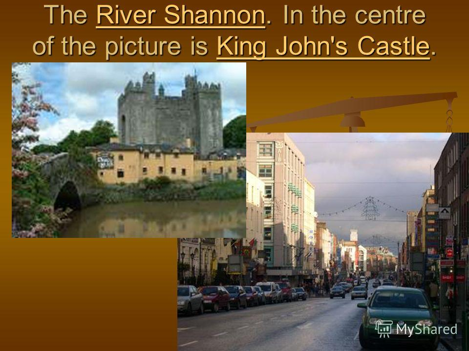 The River Shannon. In the centre of the picture is King John's Castle. River ShannonKing John's CastleRiver ShannonKing John's Castle