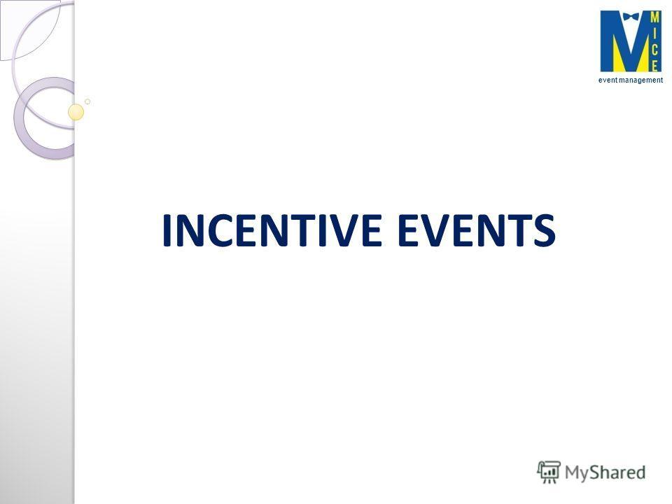 INCENTIVE EVENTS event management