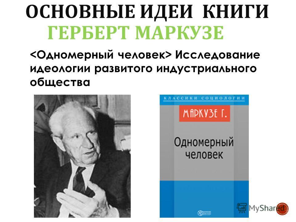 Исследование идеологии развитого индустриального общества