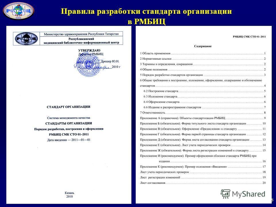 55 Правила разработки стандарта организации в РМБИЦ