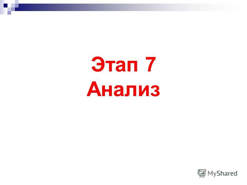 Этап 7 Анализ