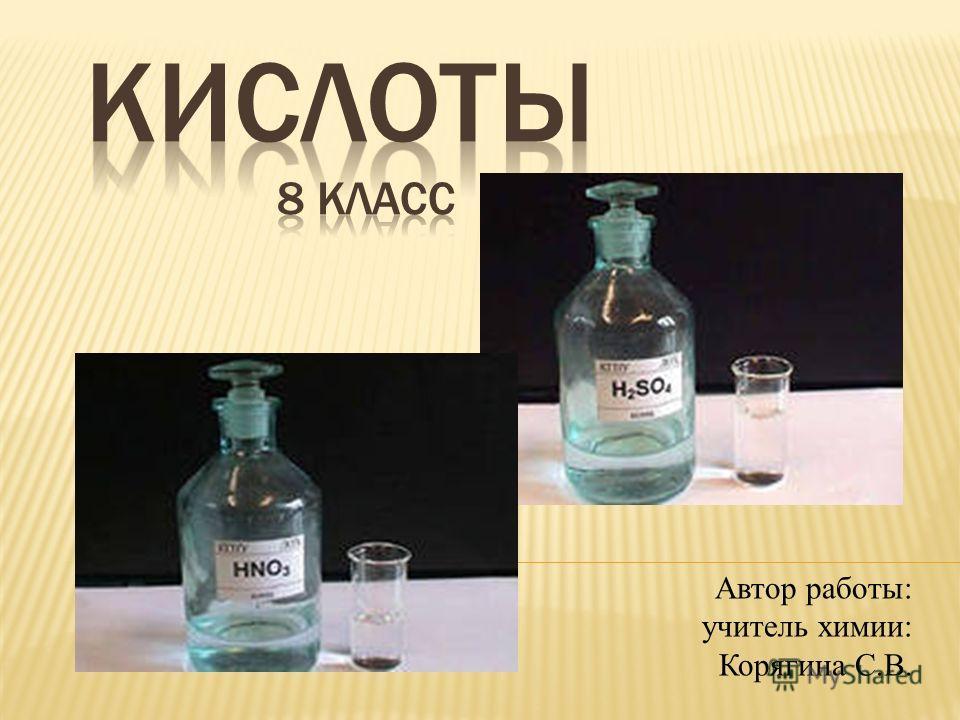 Автор работы: учитель химии: Корягина С.В.