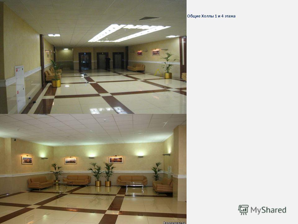 Общие Холлы 1 и 4 этажа