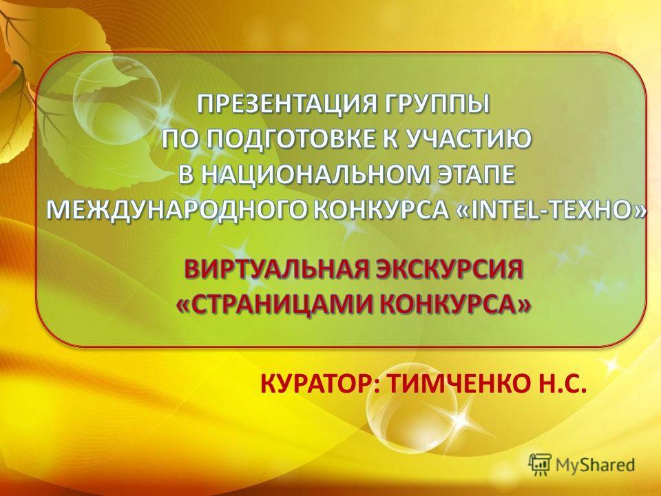 КУРАТОР: ТИМЧЕНКО Н.С.