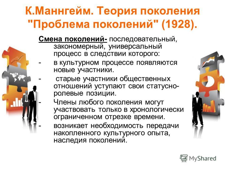 К.Маннгейм. Теория поколения
