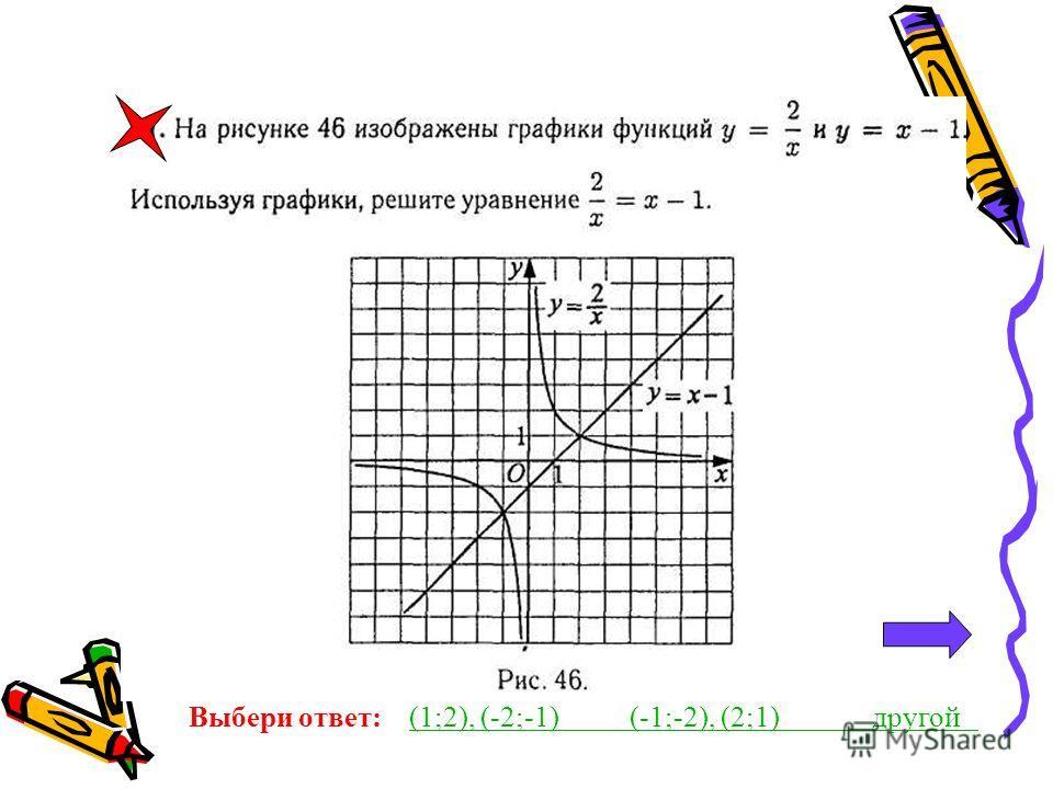 Графический метод решения уравнения. Графический метод решения уравнений позволяет решать такие уравнения, которые по-другому не решаются. Идея метода проста. Нужно представить уравнение в виде f(x)=g(x), гдеf(x) и g(x)-функции, графики которых мы ум