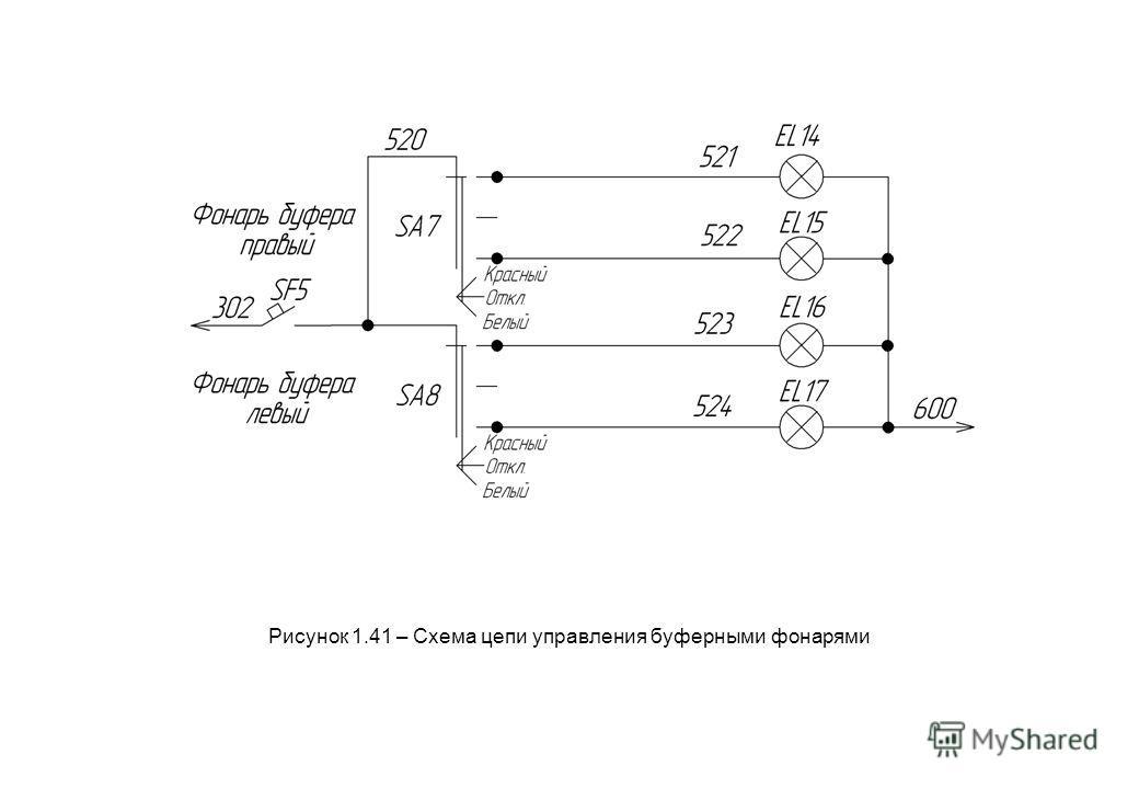 Рисунок 1.41 – Схема цепи управления буферными фонарями