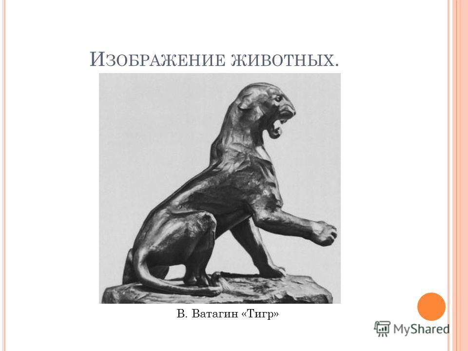 И ЗОБРАЖЕНИЕ ЖИВОТНЫХ. В. Ватагин «Тигр»