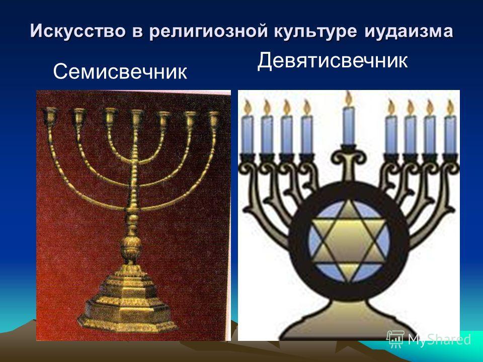 Искусство в религиозной культуре иудаизма Семисвечник Девятисвечник