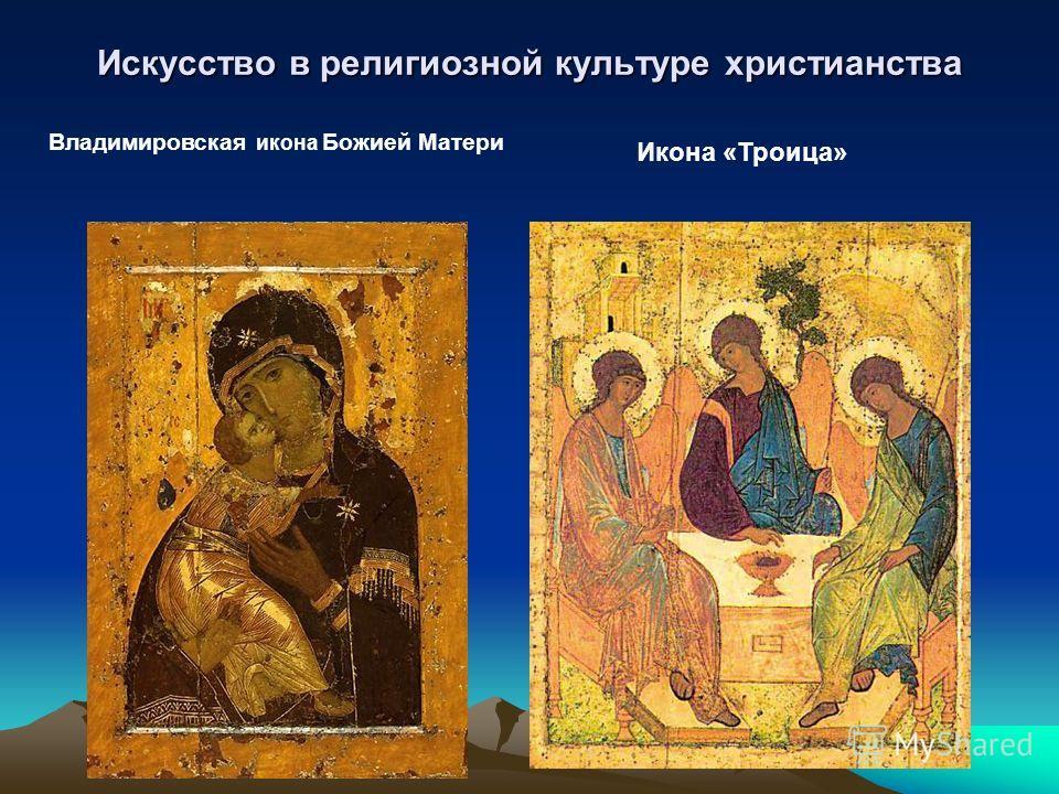 Искусство в религиозной культуре христианства Владимировская икона Божией Матери Икона «Троица»