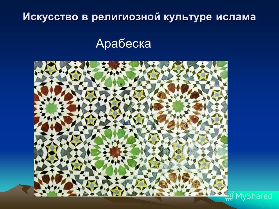 Искусство в религиозной культуре ислама Арабеска