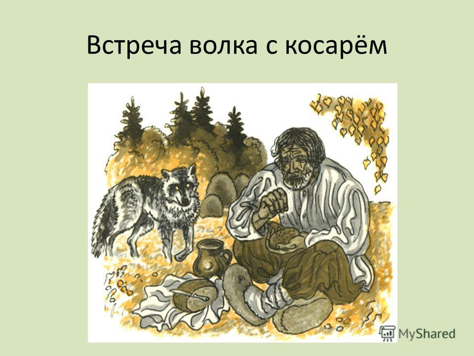 Встреча волка с косарём