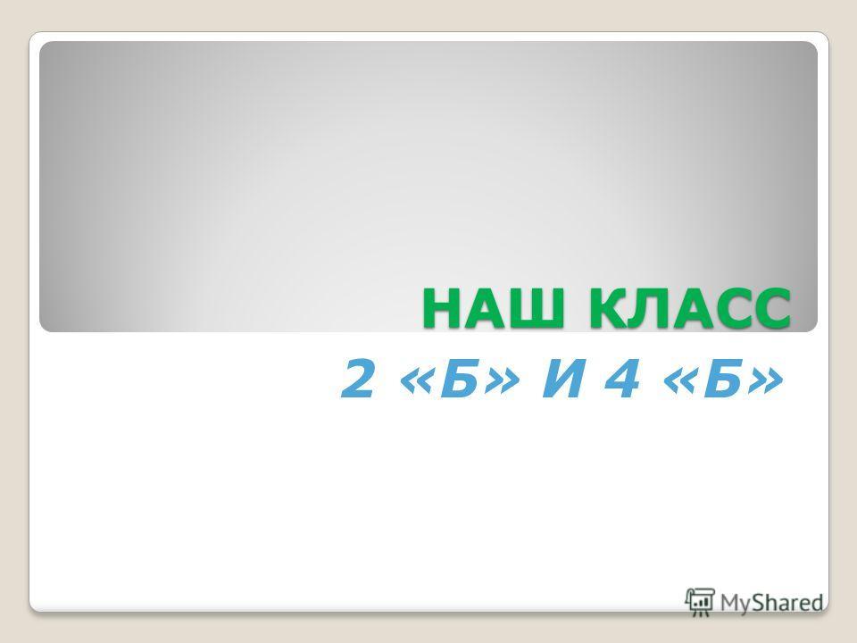 НАШ КЛАСС 2 «Б» И 4 «Б»