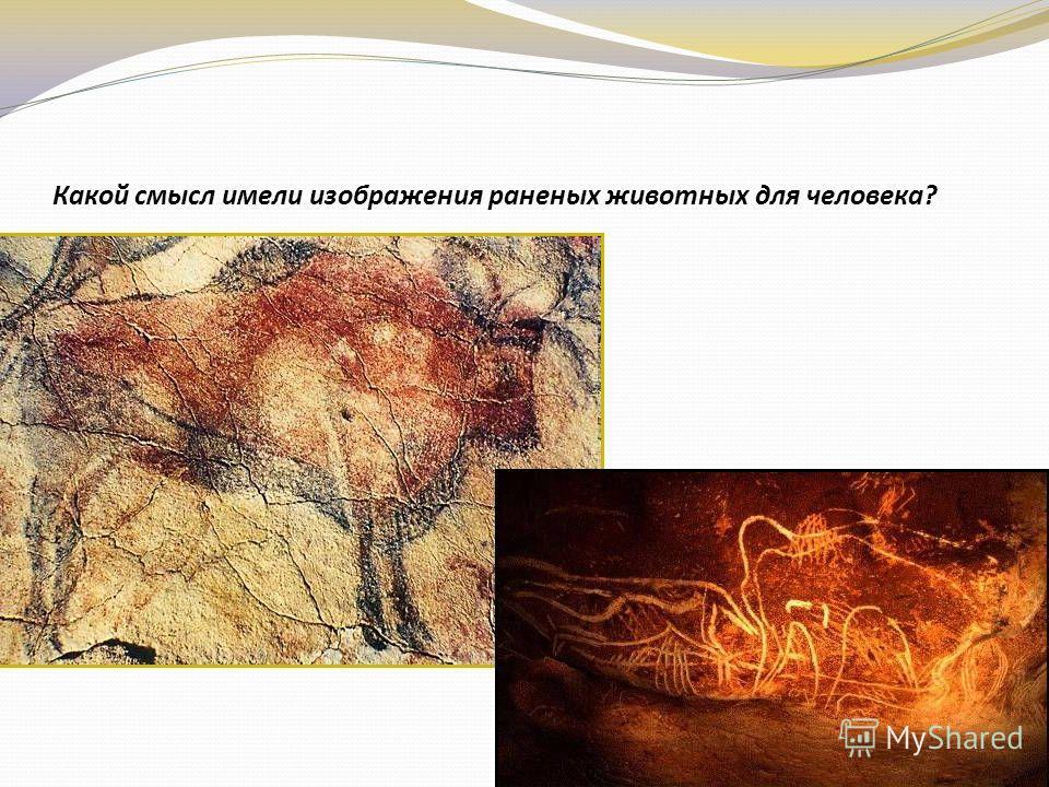 Какой смысл имели изображения раненых животных для человека?