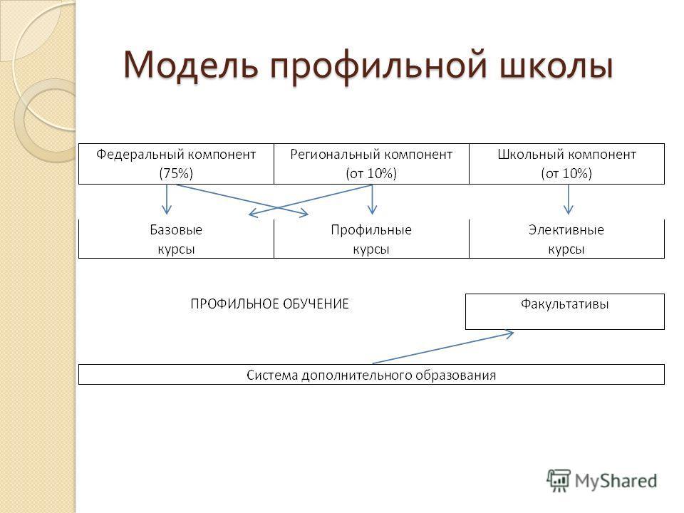 Модель профильной школы Модель профильной школы