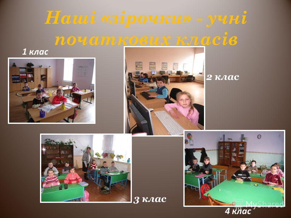 Наші «зірочки» - учні початкових класів 3 клас 2 клас 1 клас 4 клас