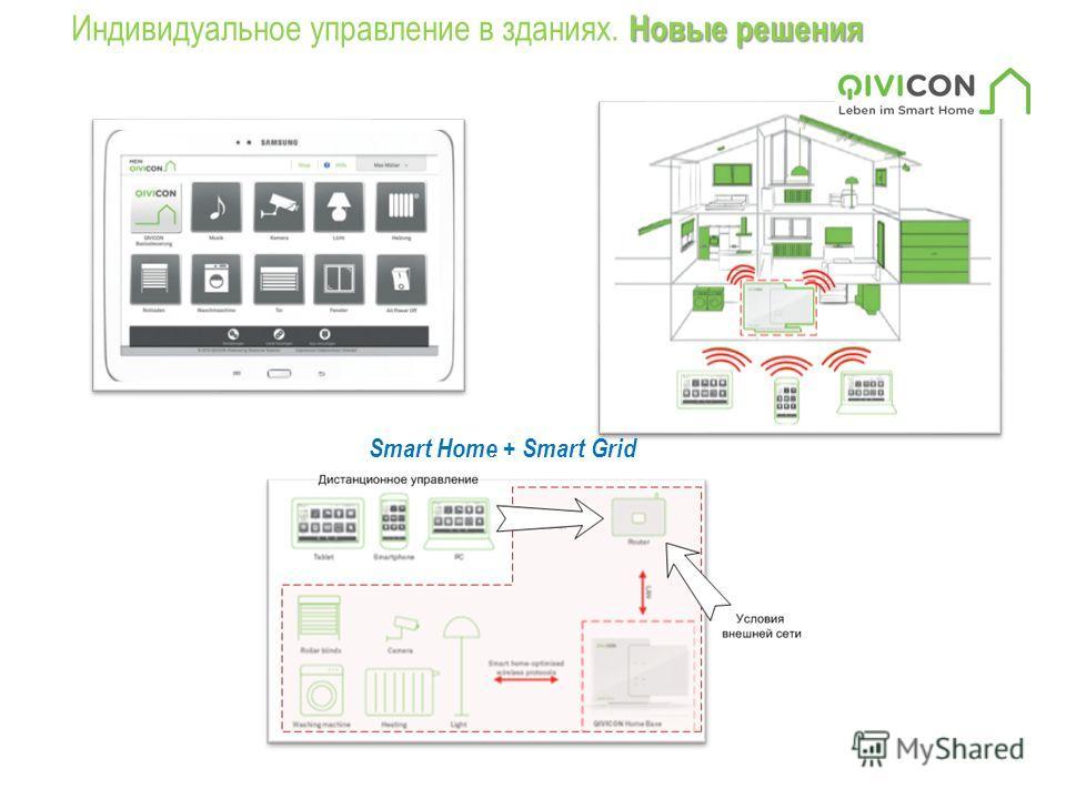 Новые решения Индивидуальное управление в зданиях. Новые решения Smart Home + Smart Grid