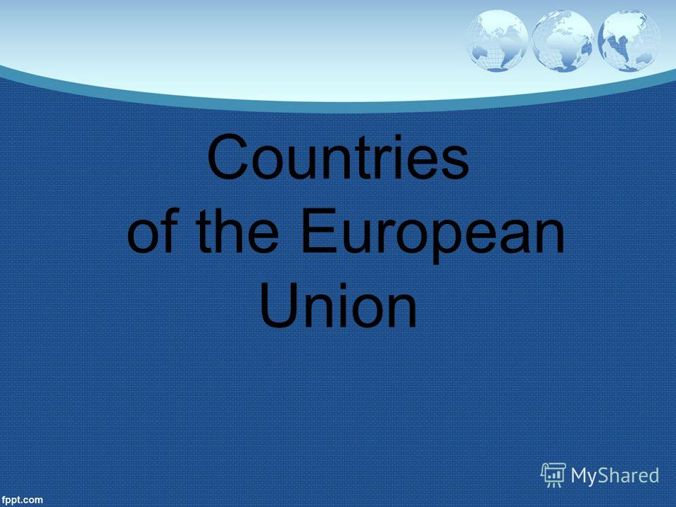 Countries of the European Union
