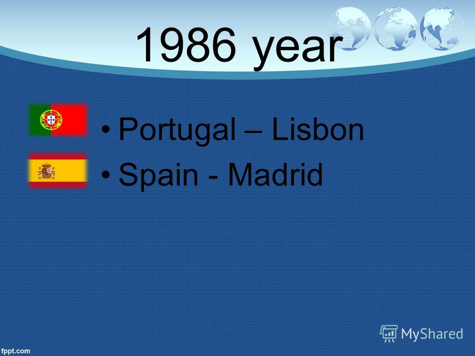 1986 year Portugal – Lisbon Spain - Madrid