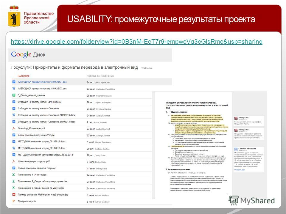 USABILITY: промежуточные результаты проекта https://drive.google.com/folderview?id=0B3nM-EcT7r9-empwcVg3cGlsRmc&usp=sharing