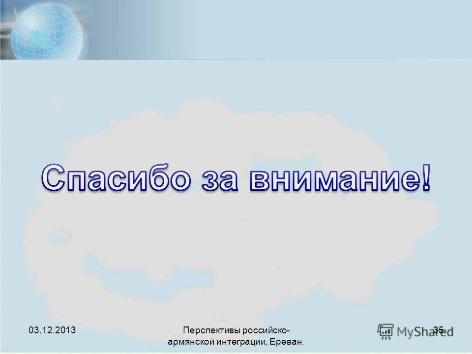 Перспективы российско- армянской интеграции, Ереван. 35 03.12.2013