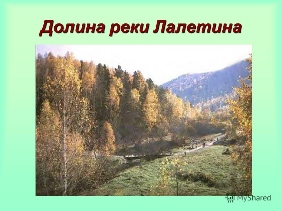 Долина реки Лалетина