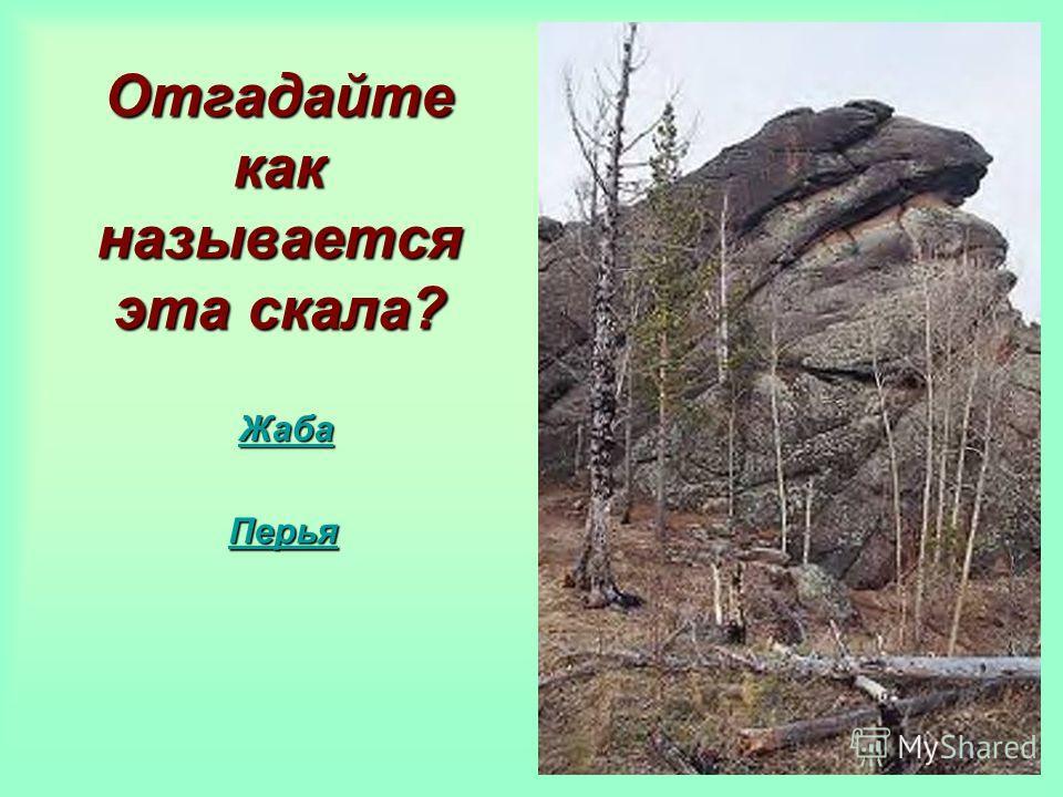 Отгадайте как называется эта скала? Жаба Перья