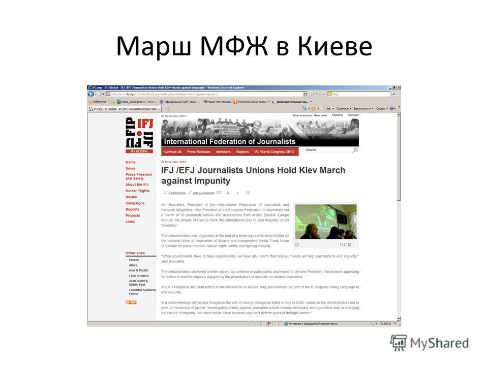 Марш МФЖ в Киеве