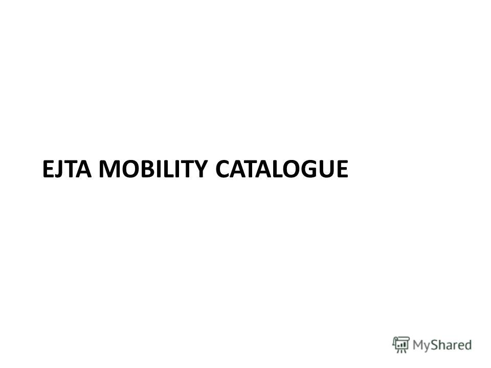 EJTA MOBILITY CATALOGUE
