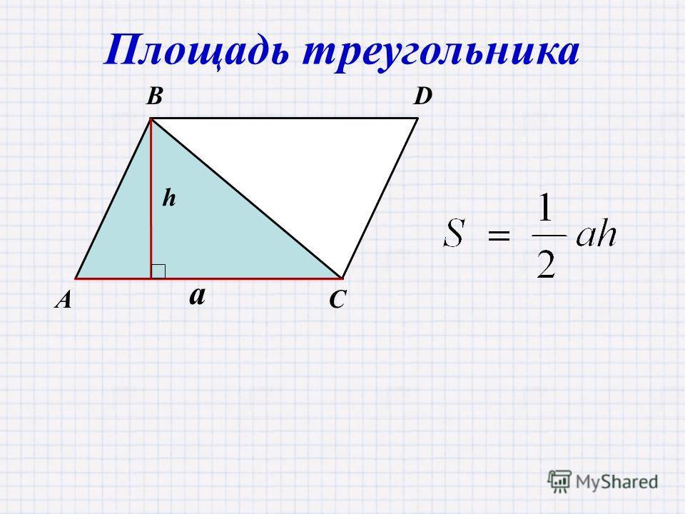 AC BD Площадь треугольника a h