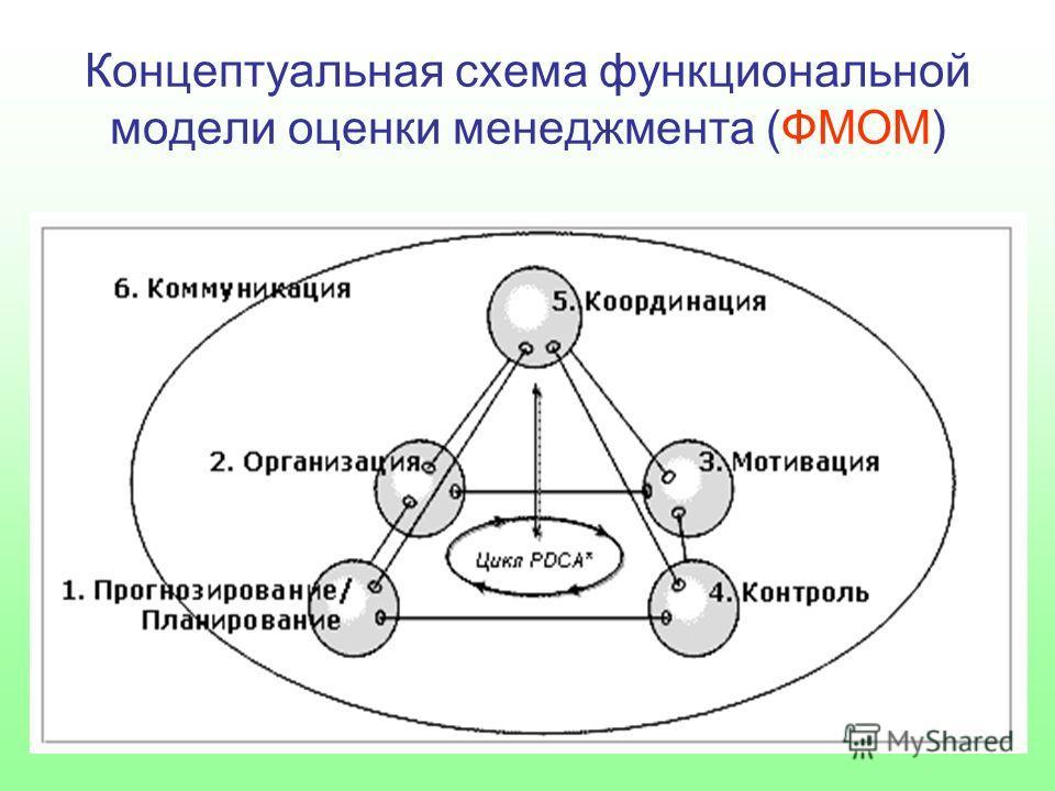 Концептуальная схема функциональной модели оценки менеджмента (ФМОМ)