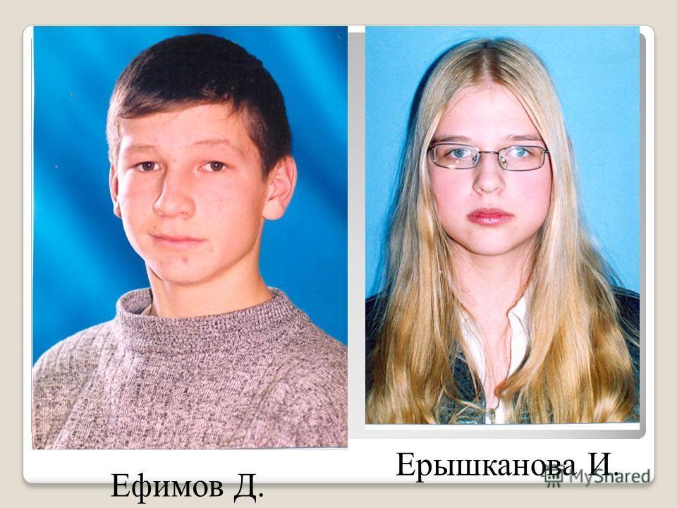 Ефимов Д. Ерышканова И.