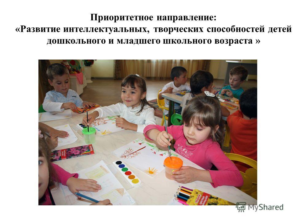 Приоритетное направление: «Развитие интеллектуальных, творческих способностей детей дошкольного и младшего школьного возраста »