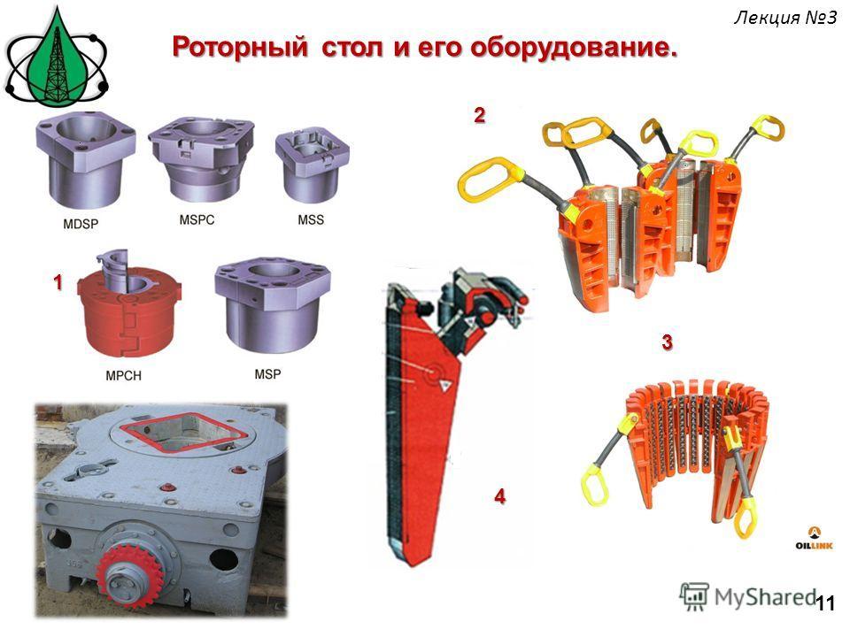11 Роторный стол и его оборудование. Лекция 31 2 3 4