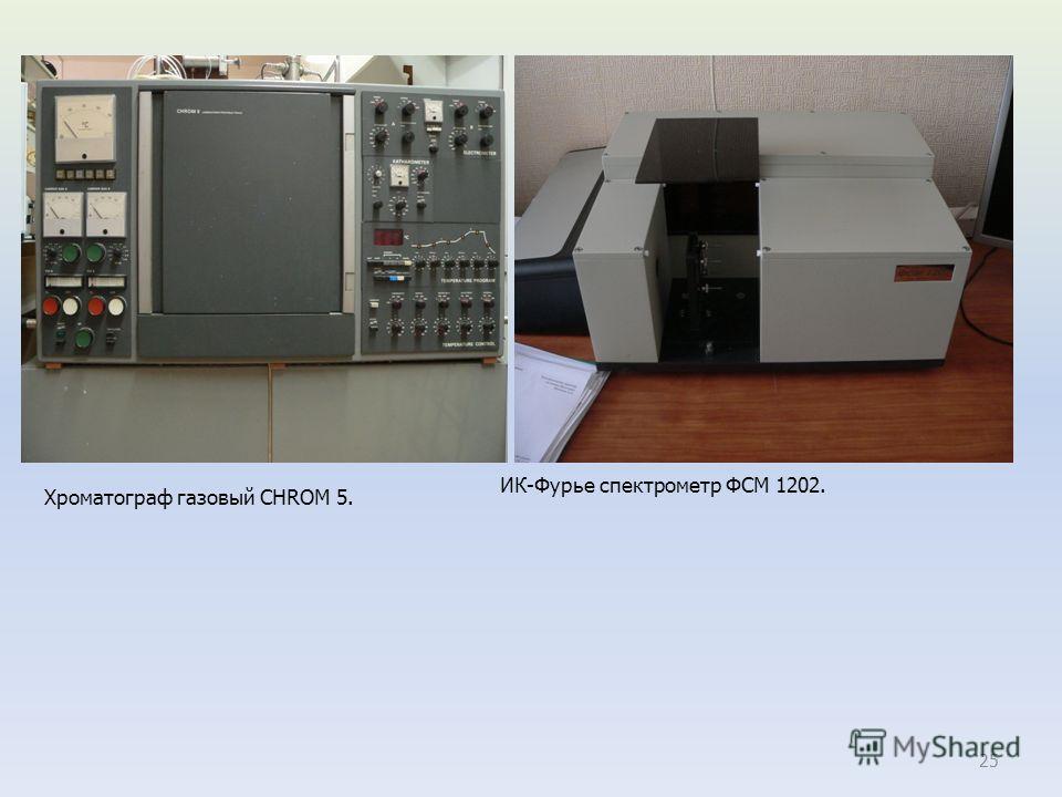 25 Хроматограф газовый CHROM 5. ИК-Фурье спектрометр ФСМ 1202.