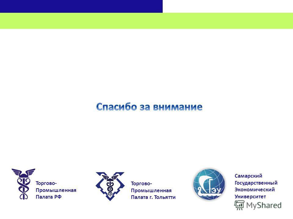 Торгово- Промышленная Палата РФ Торгово- Промышленная Палата г. Тольятти Самарский Государственный Экономический Университет