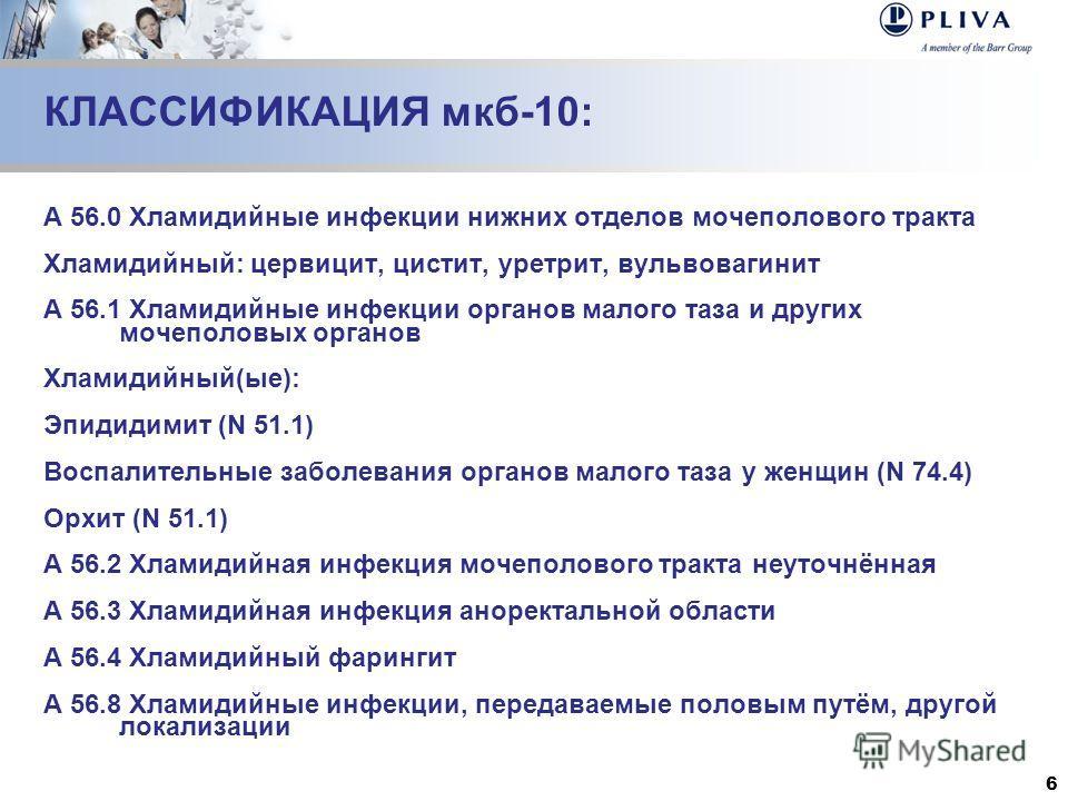 56.1 Хламидийные инфекции